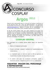 Cosplay Argos 2012