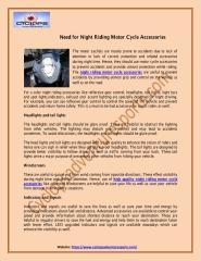 High Quality Night Riding Motor Cycle Accessories - CyclopsAdventureSports.pdf
