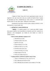 O CORPO DE CRISTO lição 14.doc