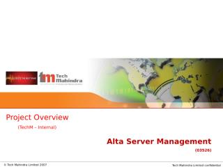 Alta_Server_Management_Project Overview.ppt