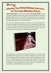 Offering Top Bridal Makeup Services At The Cost Effective Prices.pdf