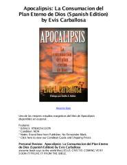 apocalipsis la consumacion del plan eterno de dios spanish edition by evis carballosa - 5 star review.pdf
