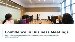 Confidence in Business Meetings.ppt