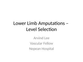 LowerLimbAmputationLevelSelection.ppt