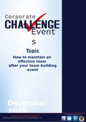 How to maintain an effective team after your team building event.pptx