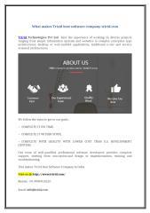 What makes Tririd best software company-tririd.com.doc