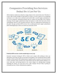 Companies Providing Seo Services Dubai Do A Lot For Us.doc