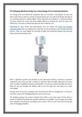 XT Packaging Machine Brings You a New Range of Can Seaming Machine.PDF