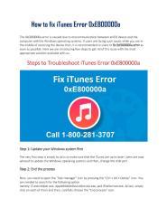 How to fix iTunes Error 0xE800000a Call 1-800-281-3707.pdf
