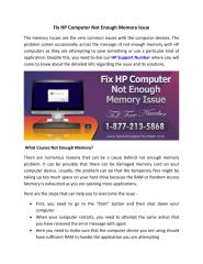 Fix HP Computer Not Enough Memory Issue.pdf