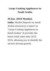 Large Cooking Appliances in Saudi Arabia.doc