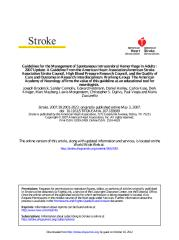 Guidelines for the Management of Spontaneous Intracerebral Hemorrhage in Adults.pdf