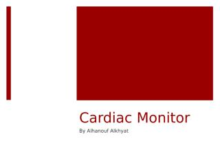 cardiac monitor updated 2018.pptx