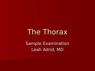 The Thorax samplex.ppt