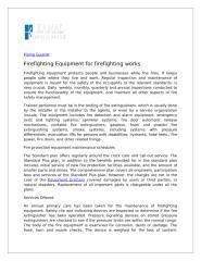 Firefighting Equipment for firefighting works.doc