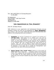 Appointment letter - Sandp prasad- Desp..doc