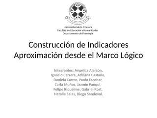 Indicadores - Marco Lógico.ppt
